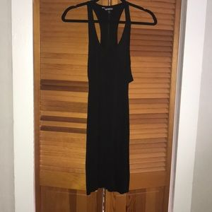 Black cutout tank dress